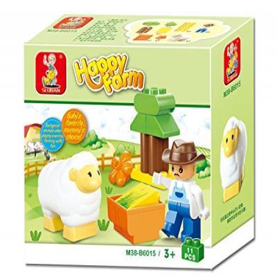 Sluban Happy Farm Learning Educational Building Block Toy M38-B6015