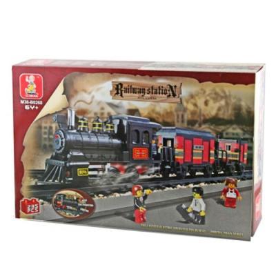 Sluban Educational Buiilding Block Toys Affordable Option Railway Station M38-B0268