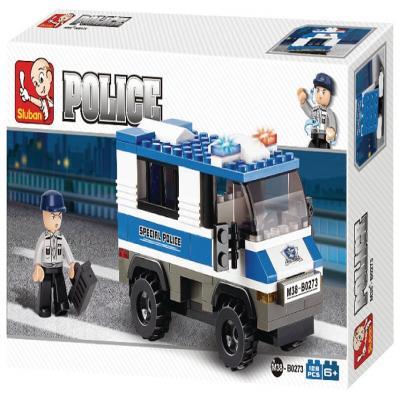 Sluban Police Van  M38-B0273 Building Blocks
