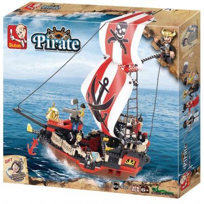 Sluban Educational Building Block Large Pirate Ship M38-B0127