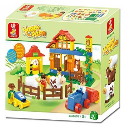 Sluban Educational Building Block Happy Farm Learning Toy M38-B6019