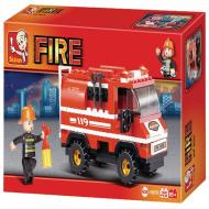 Sluban Affordable Educational Buiilding Block Fire Truck M38-B0276